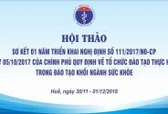 Hội thảo sơ kết 01 năm triển khai Nghị định số 111/2017/NĐ-CP