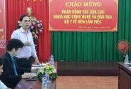 Cục Khoa học công nghệ và Đào tạo làm việc với Trường CĐYT Đắk Lắk