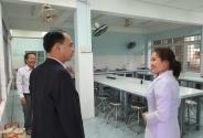 Cục Khoa học công nghệ và Đào tạo làm việc với Trường Cao đẳng Y tế Bình Định
