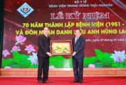Bệnh viện Trung ương Thái Nguyên đón nhận danh hiệu Anh hùng Lao động