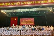 Sinh viên, giảng viên Đại học Y Dược Hải Phòng chi viện Bắc Giang
