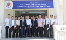 Bộ Y tế thăm và làm việc với Trường đại học Phan Châu Trinh