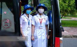 Sinh viên Trường ĐH Y dược Cần Thơ chi viện Vĩnh Long phòng chống dịch