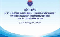 Hội thảo sơ kết 01 năm triển khai Nghị định số 111/2017/NĐ-CP tại Thành phố Hồ Chí Minh