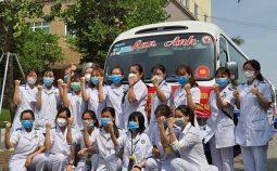 Hơn 200 cán bộ y tế Nam Định lên đường hỗ trợ Đồng Nai chống dịch