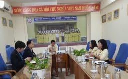 Cục Khoa học công nghệ và Đào tạo làm việc với Trường Đại học Quang Trung